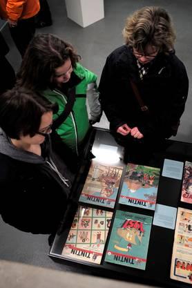 Im Cartoonmuseum Basel: Tim und Struppi.