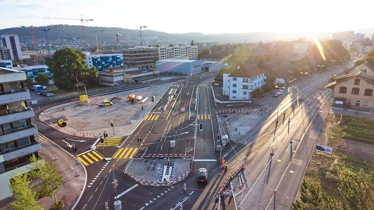 Drohnenfotos Zentrum Schlieren am 02.08.2018
