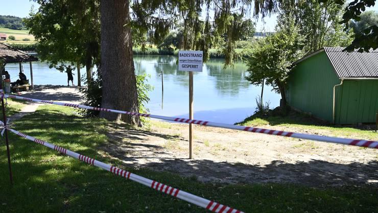 Der kleine Strand bei der Kapelle Staad war bis gestern gesperrt.