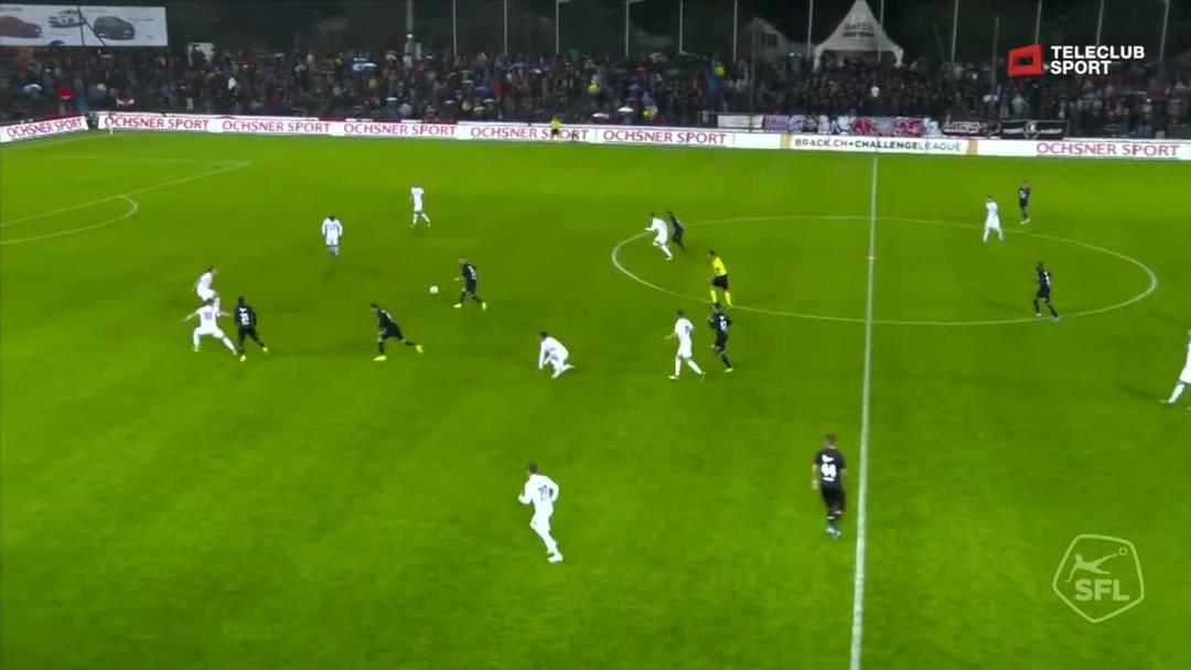 Challenge League 2019/20, 11. Runde:  FC Aarau - FC Lausanne-Sport, 49. Minute
