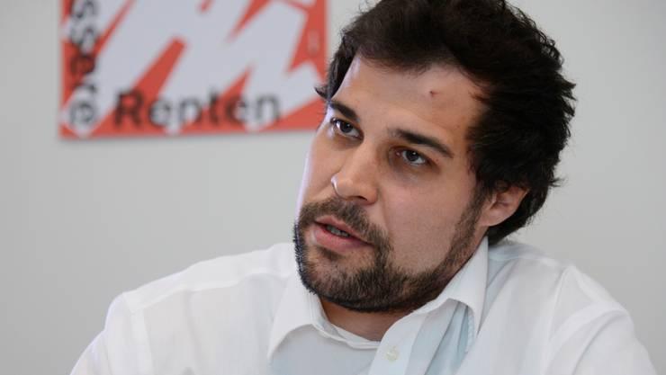 Der 31-jährige Gewerkschafter Ivano Marraffino will sich «als junge Kraft» im Kanton Solothurn einbringen.hansjörg sahli
