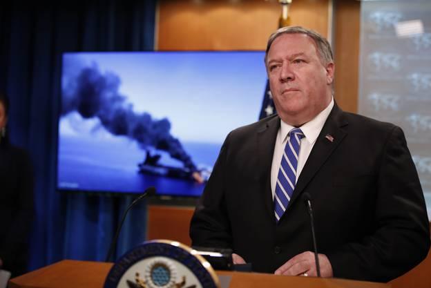 US-Aussenminister Mike Pompeo wies dem Iran die Verantwortung für die mutmasslichen Angriffe auf die zwei Tanker zu