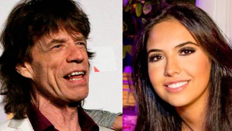 Mick Jagger und Noor Alfallah.