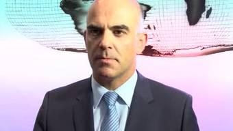 Bundesrat Alain Berset äussert sich zum Epidemiegesetz