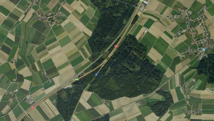 Der Töfffahrer lag auf der A1 bei Kernenried leblos auf der Fahrbahn.
