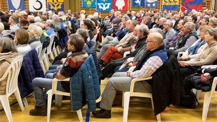 An mehreren Infoanlässen zum Fusionsprojekt informierten die Gemeinden. (Archivbild: 24. Januar 2019)