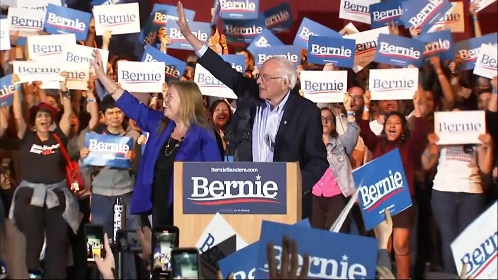 Nevada (USA): Sanders lässt Konkurrenten bei Vorwahl weit hinter sich