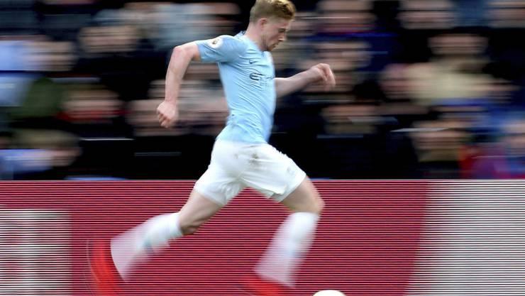 Der Speed von Manchester City's Kevin De Bruyne ist gegen Tottenham gefragt