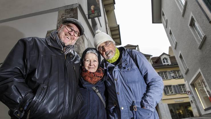 Andreas Berger, Silvia Jost und Beat Albrecht (v.l.) über ihre neue Bühnenproduktion.