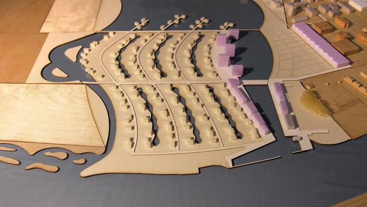 Modell der «Wasserstadt» Solothurn