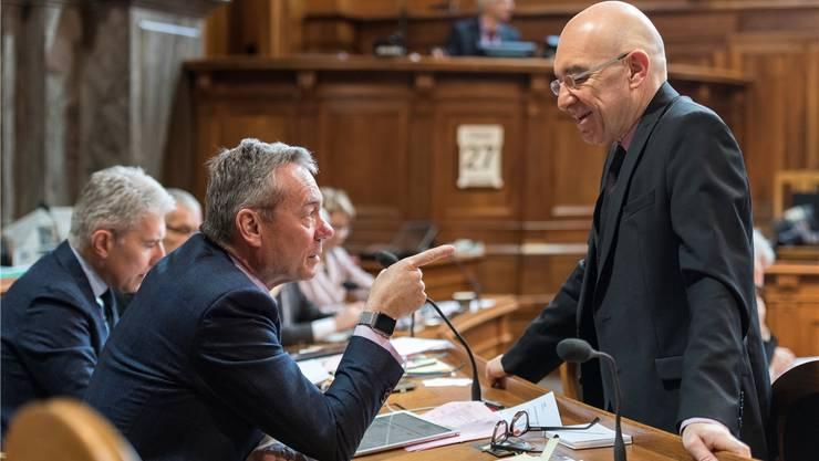 Ruedi Noser (FDP) und Daniel Jositsch (SP) haben gemeinsame Wahlkampfauftritte.