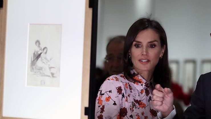 Die spanische Königin Letizia nahm im Prado-Museum im November an der Eröffnung einer Ausstellung mit Zeichnungen von Goya teil. Die Ausstellung dauert noch bis am 16. Februar. Der Prado ist eines der bedeutendsten Kunstmuseen der Welt. (Archivbild)