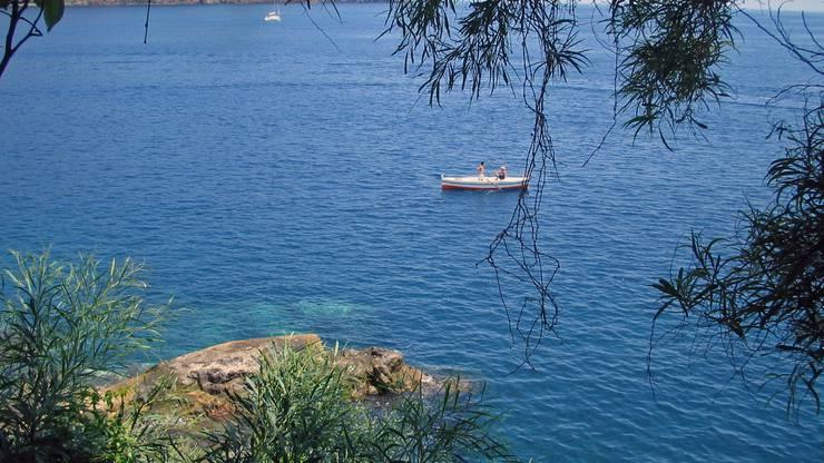 Bei Lipari, Hauptort der liparischen Inseln vor Sizilien, Italien