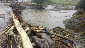 In Kenia sind Strassen und Brücken von den Unwettern beschädigt worden.