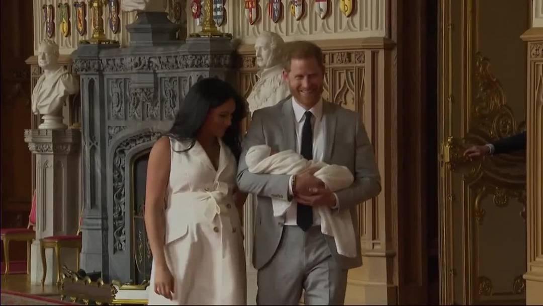 Meghan und Harry zeigen erstmals ihren Erstgeborenen