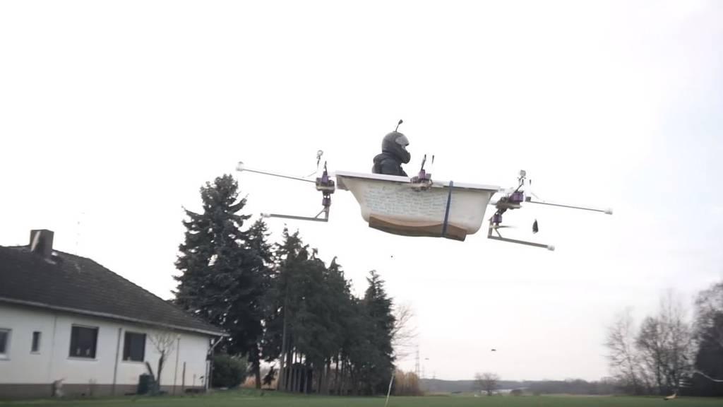 Das Transportmittel der Zukunft: Eine Badewannen-Drohne für Menschen.