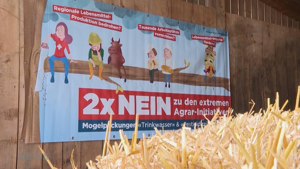 """""""Agrar-Initiativen sind existenzbedrohend"""": Gegner wehren sich mit Händen und Füssen die Vorlagen"""