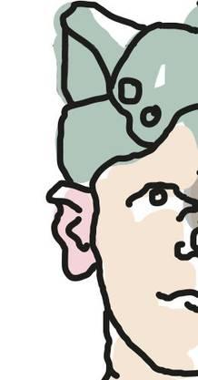 Auch «Schiffli »genannt, konnte durch Herunterklappen auch die Ohren bedecken. Später ersetzt durch die Mütze mit eingebautem Schirm («Mutz»). Die Mütze konnte als «Figgermutz »getragen werden: Hinten hoch, vorne tief, so trugen sie der eifrige Unteroffizier; oder «auf Durst»: Hinten tief und vorne hoch, so trug sie der eher arbeitsunwillige Soldat.