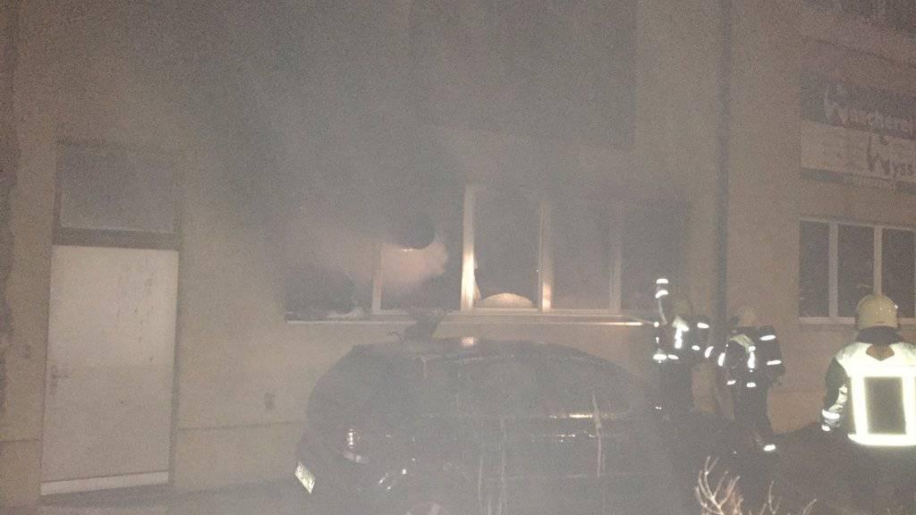 Das Feuer, das in einer Wäscherei ausgebrochen war, richtete grossen Schachschaden an.