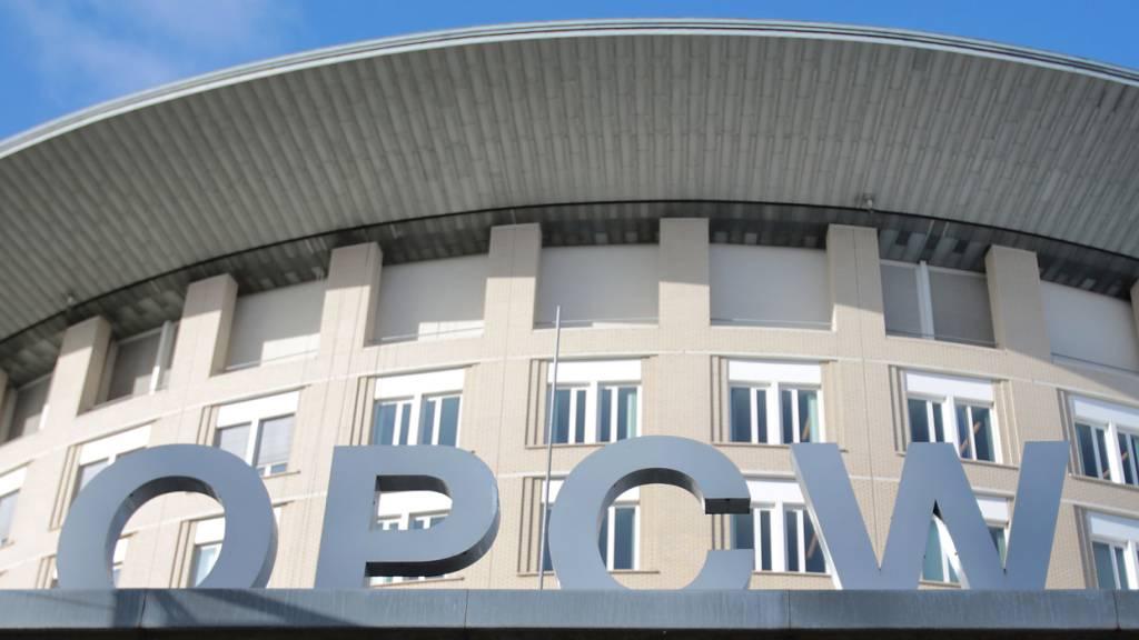 Der Sitz der Organisation für das Verbot chemischer Waffen, der Organisation for the Prohibition of Chemical Weapons (OPCW). Foto: Oliver Berg/dpa