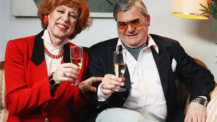 Das «bescheidene» Ehepaar Giebler: Viktor Giacobbo als Eleonor, Mike Müller als Hermann
