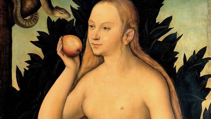 Bereits die Kirchenväter schmähten die Frau, weil Eva den Apfel von der Schlange genommen hatte.