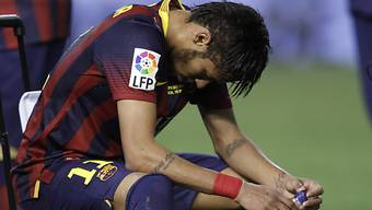 Dämpfer für Barcelona-Star Neymar: Mehrere Wochen Pause.