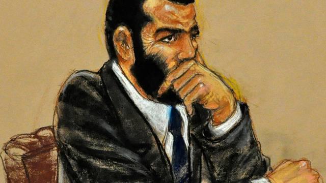 Der angeklagte Omar Khadr vor Gericht in Guantanamo