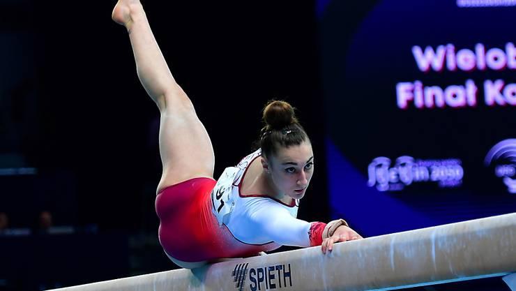 Pech für Ilaria Käslin: Die Tessinerin schrammte einmal mehr in einem Schwebebalkenfinal nur knapp an einer Medaille vorbei