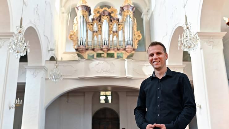 Roman Stahl in der Stiftskirche Schönenwerd.