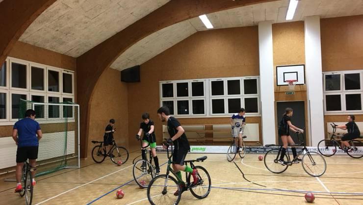 Nachwuchstraining des Radballclubs