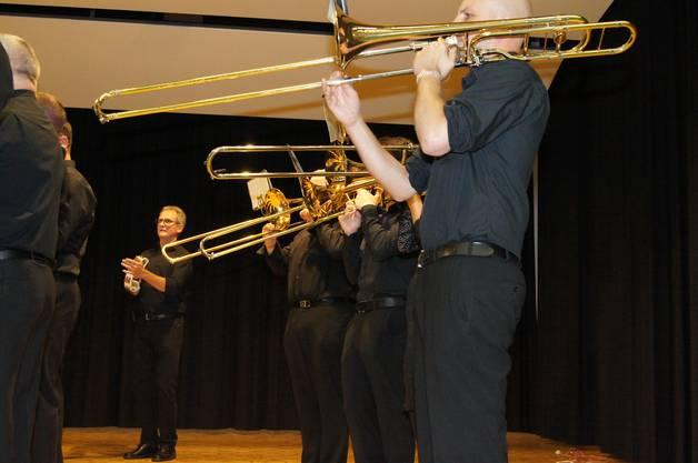 Die Posaunen des Silbermedaillen-Gewinners, des Musikvereins Künten.