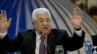 """Für den palästinensischen Präsidenten Mahmud Abbas gehört der Friedensplan für den Nahen Osten, den US-Präsident Donald Trump vorgelegt hat, auf den """"Müllhaufen der Geschichte"""". (Archivbild)"""