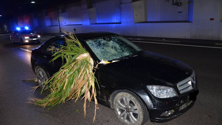In Muttenz, the Basel-based police stopped a drunk driver. He had wandered off the road in Aargau, mowed in a cornfield, and then drove on. The man had almost two parts of alcohol in his blood.