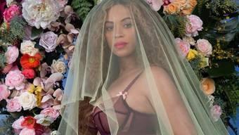 Dieses Instagram-Foto (Ausschnitt), mit dem Beyoncé ihre Schwangerschaft ankündigte, ist mit über 12 Millionen Clicks der Rekordhalter 2017. (Instagram)