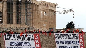 Die Proteste gegen die EU und das Sparpaket sind in Griechenland allgegenwärtig
