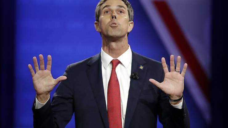 Da waren es nur noch 17 Kandidaten: der US-Demokrat Beto O'Rourke wirft im Rennen um die Präsidentschaftskandidatur seiner Partei das Handtuch. (Archivbild)