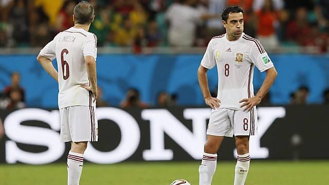 Xavi spielt nicht mehr für Spaniens Nationalteam.