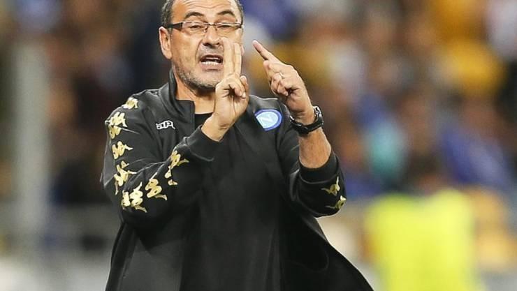 Maurizio Sarri steht mit Napoli zumindest für eine Nacht an der Tabellenspitze in Italien