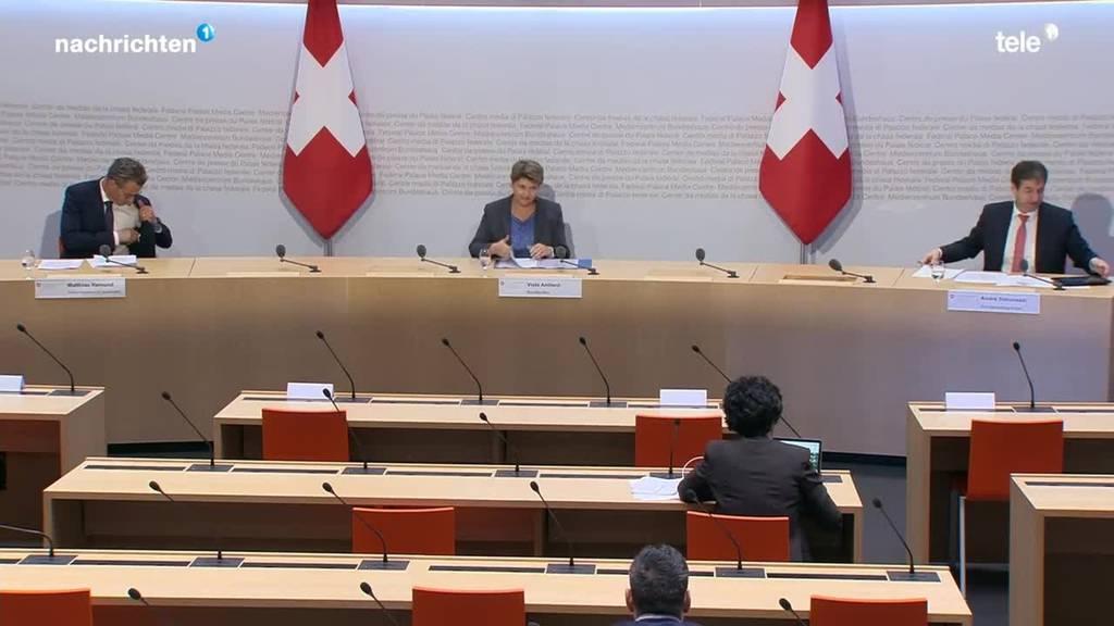 Medienkonferenz des Bundes 15.00 Uhr