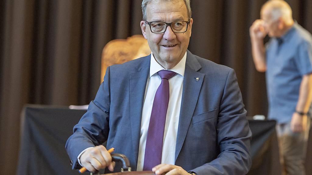 Der Nidwaldner Finanzdirektor Alfred Bossard ist mit seiner Steuervorlage auf keine Opposition gestossen. (Archivaufnahme)