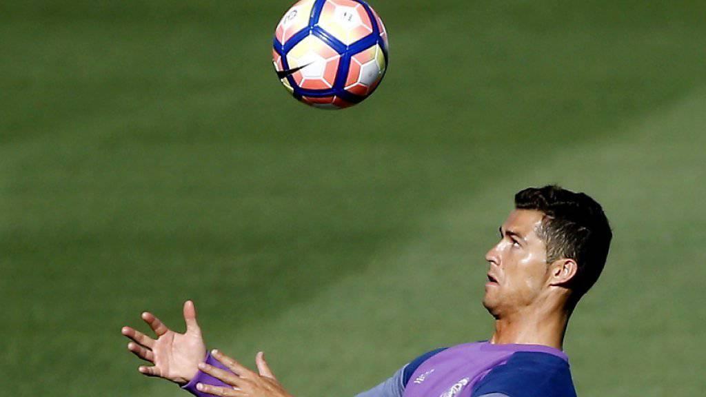 Cristiano Ronaldo in seinem ersten Training nach der Knieverletzung