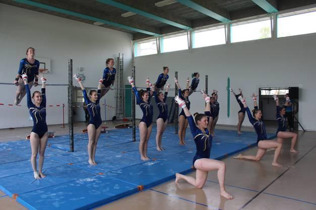 Die Reckturnerinnen begeisterten die Zuschauer mit schönen Übungen.