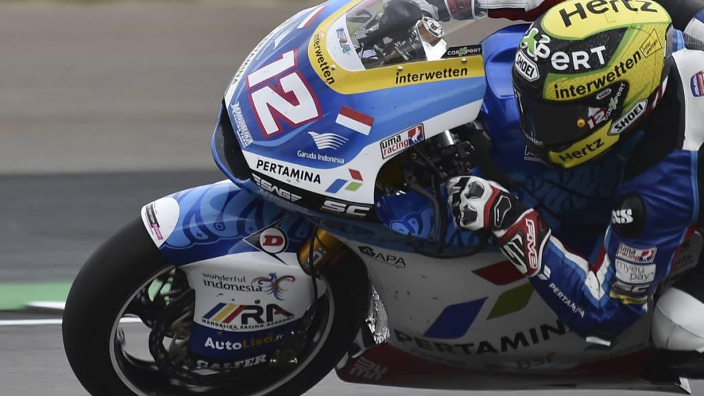 Zu wenig schnell unterwegs: Tom Lüthi verliert im Training zum GP von Aragonien zu viel Zeit