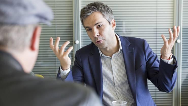 Epidemiologe Marcel Salathé in einem Interview im Jahr 2016. Archivbild.