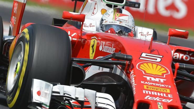 Ferrari (am Steuer hier Sebastian Vettel) baut für die zweite Saisonhälfte seine Technikabteilung um