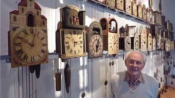 Heinrich Weiss war schon als kleiner Knabe von Uhren fasziniert.