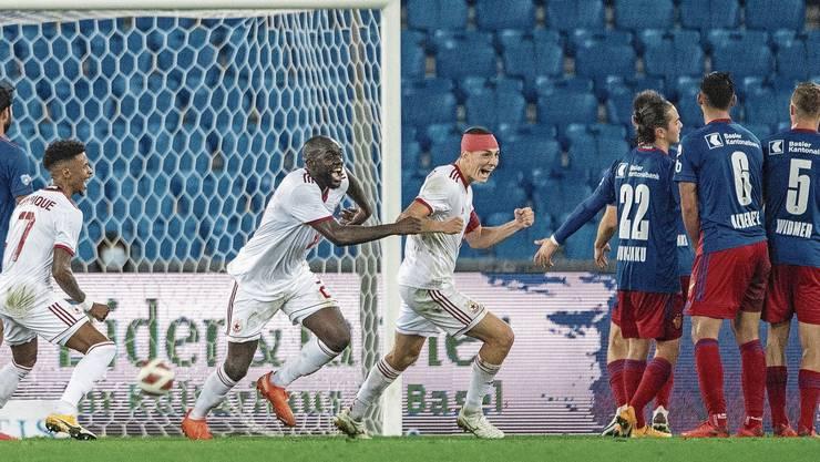 Sofia jubelt, der FCB guckt in die Röhre. Soeben haben die Bulgaren kurz vor Schluss per Freistoss zum 2:1 getroffen.