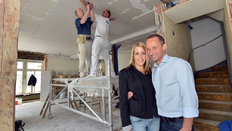 Rahel Liebi und Stefan Dietschi können die Eröffnung ihres «Gryffe» kaum erwarten.bruno kissling