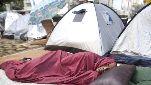 Die leeren Zelte hat Tel Avivs Stadtverwaltung bereits geräumt. (Archiv)